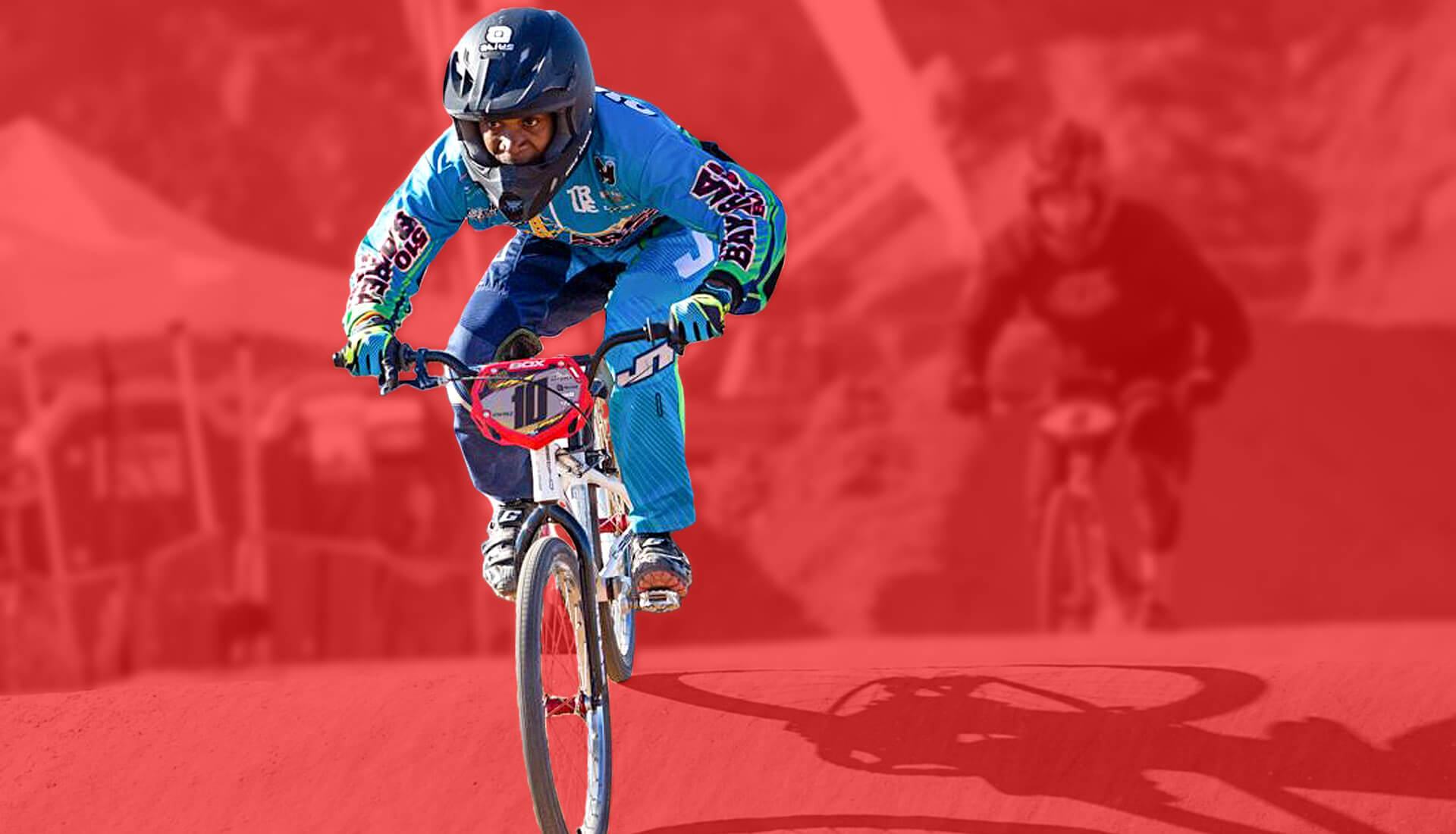 bay area bmxer banner red