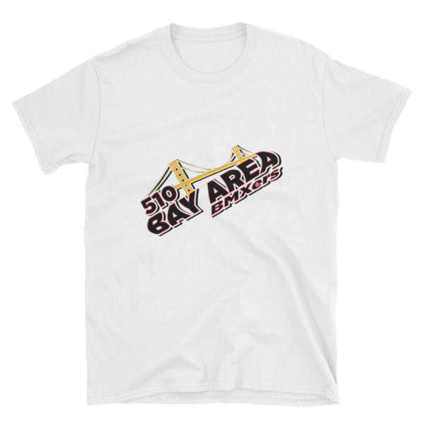bay area bmxers logo adult t-shirt white