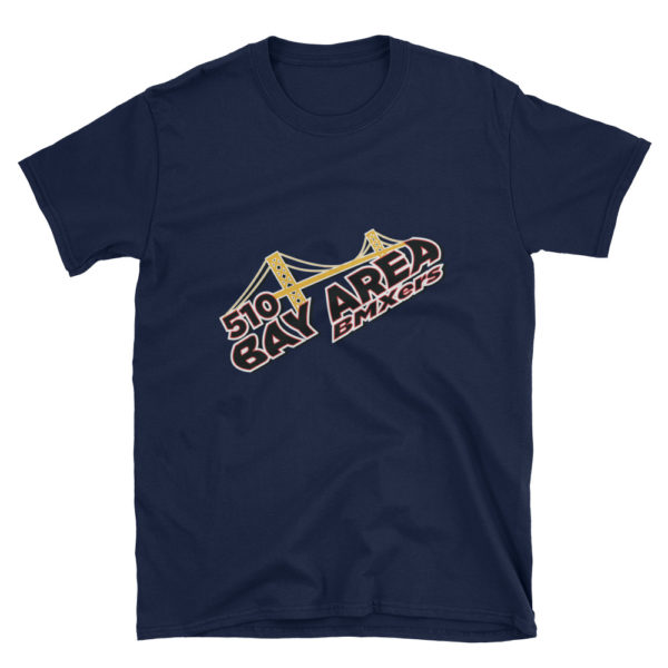 bay area bmxers logo adult t-shirt navy blue