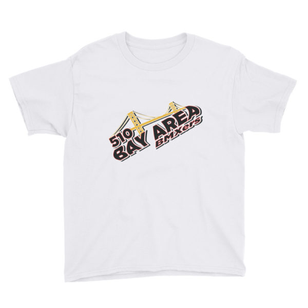 bay area bmxers logo youth t-shirt white