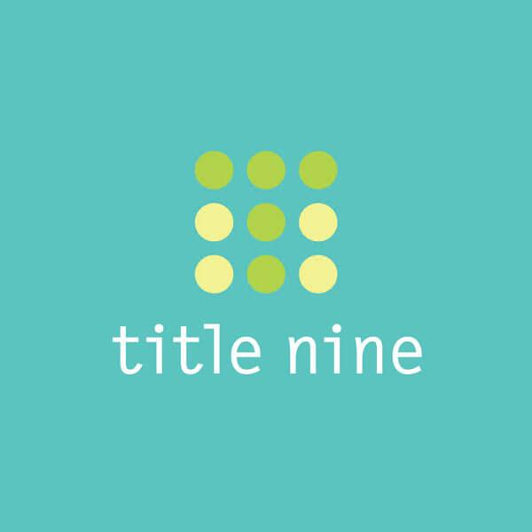 title nine logo