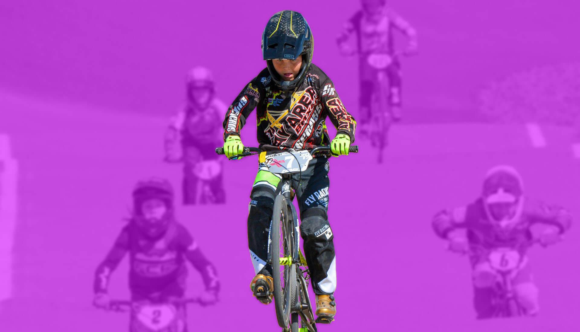 bay area bmxer banner purple