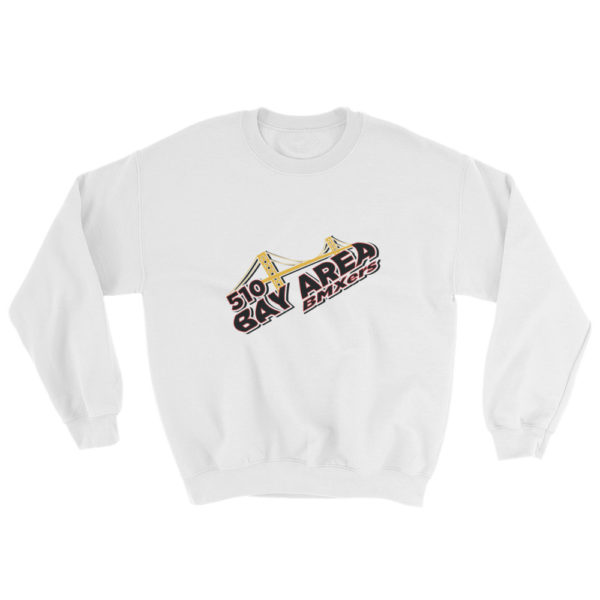 bay area bmxer logo sweatshirt white