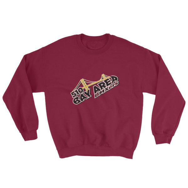 bay area bmxer logo sweatshirt maroon