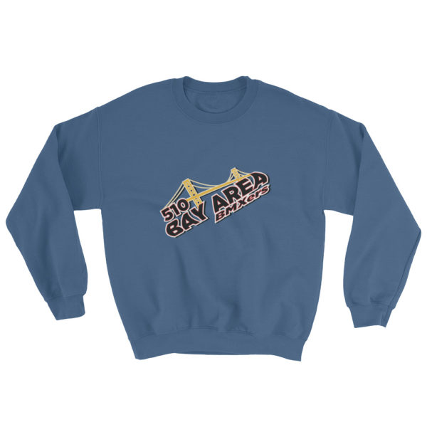 bay area bmxer logo sweatshirt indigo blue
