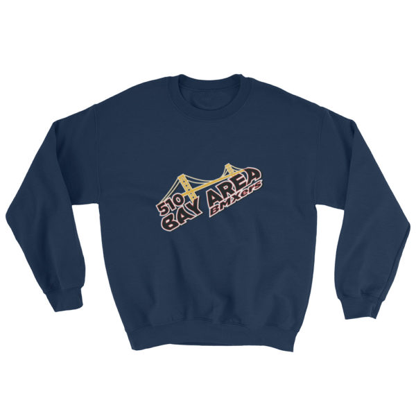 bay area bmxer logo sweatshirt navy blue