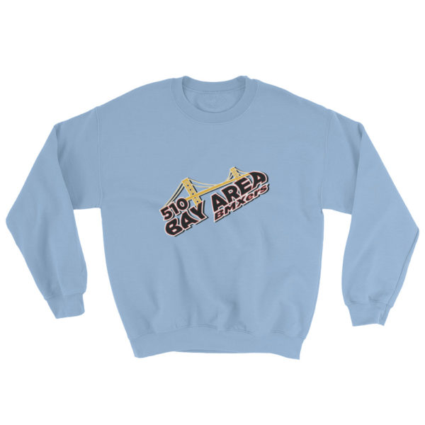 bay area bmxer logo sweatshirt light blue