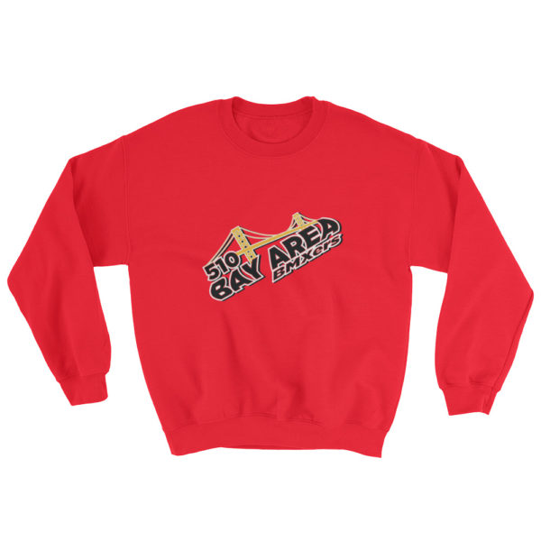 bay area bmxer logo sweatshirt red