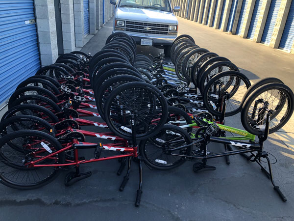 row of bmx bikes for summer camp