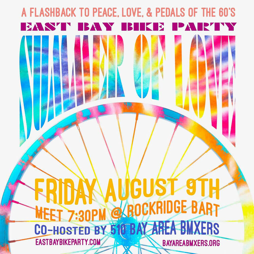 East Bay Bike Party Summer of Love 2019