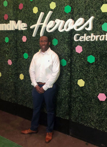 Howard at GoFundMe Heroes Celebration
