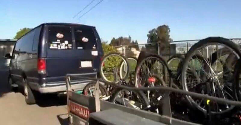flood the streets with bikes van and trailer